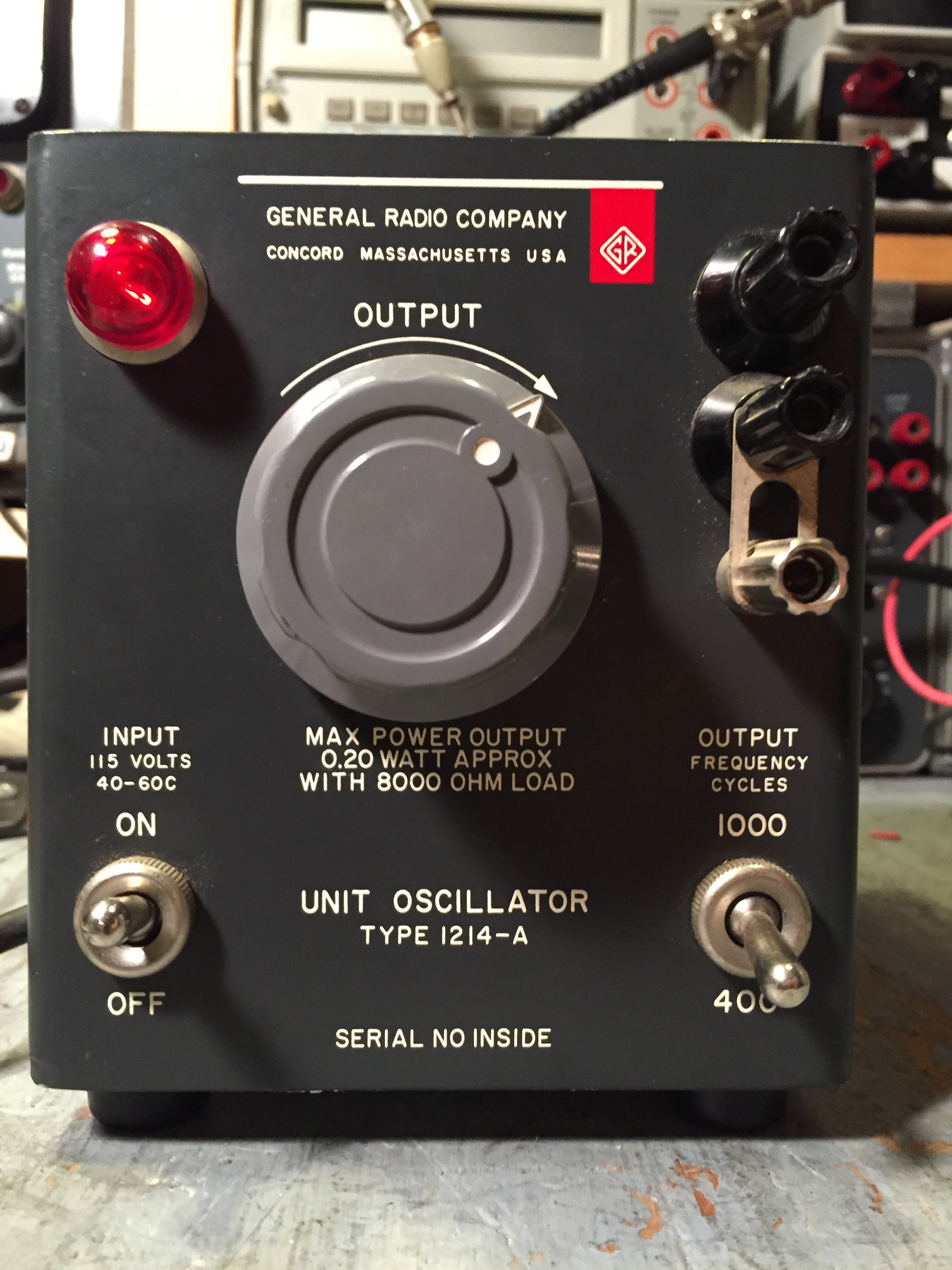Antique Radio Forums View Topic General 1214 A Unit Audio Oscillators The Oscillator Is Fixed Tuned But Can Be Switched Between 400 Hz And 1000