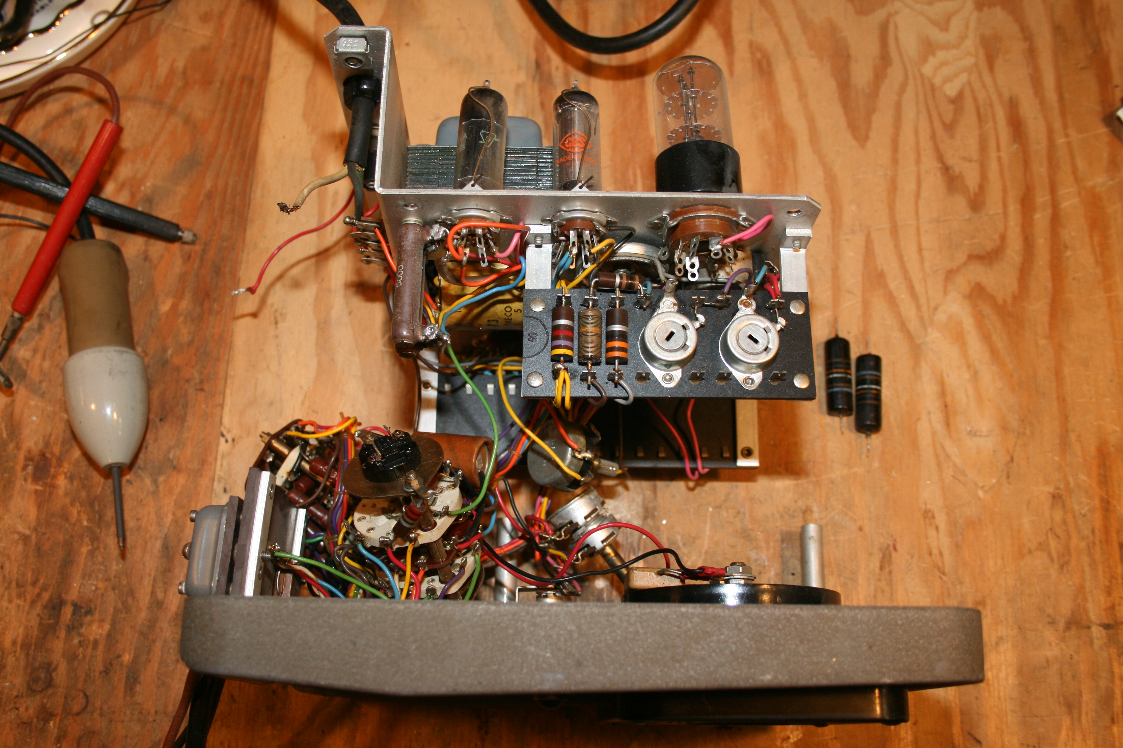Hp 410b Restoration Steves Web Junkyard Steve Byan Hewlett Packard Wiring Diagram Its A Pain To Get Inside Work On The Meter I Had Disconnect Ac Power Connection And Remove All Front Panel Controls Innards