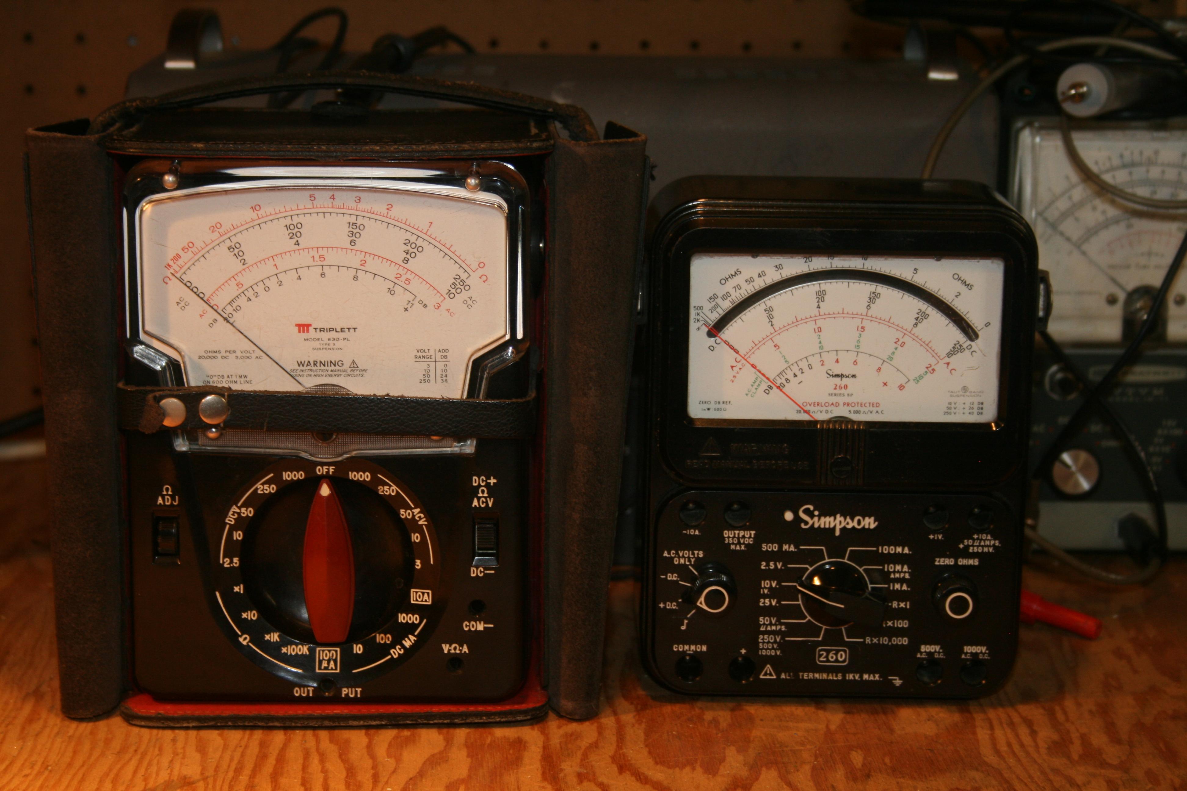 Triplett model 630-na type 2 instruction manual test equipment.